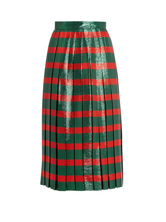 skirt pleated green