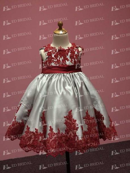 Dress Baby Flower Girl Dresses Flowergirls Lace Weddings Cute Black Red