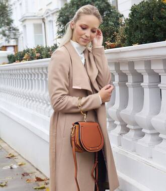 coat bag handbag ted baker nude coat camel camel coat brown bag waterfall coat