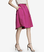 HIGH WAIST FULL MIDI SKIRT