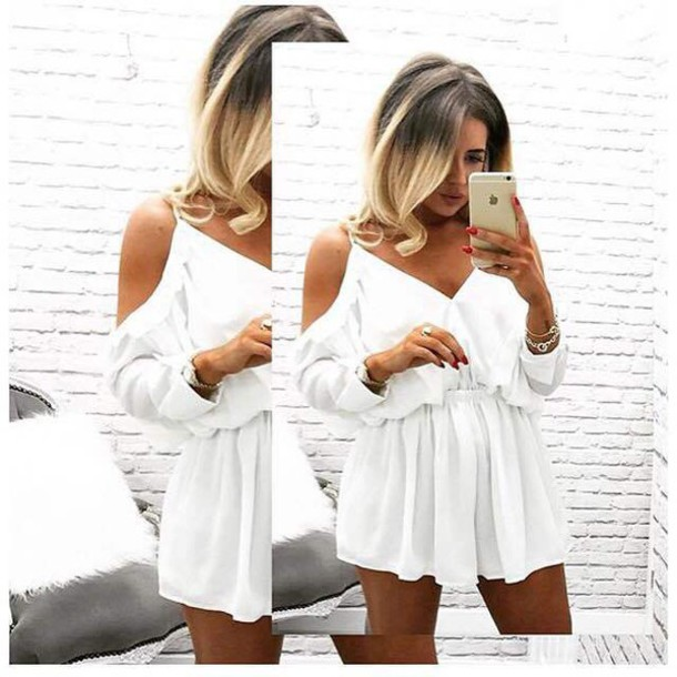 50063d496a90 romper festival asos white romper summer outfits