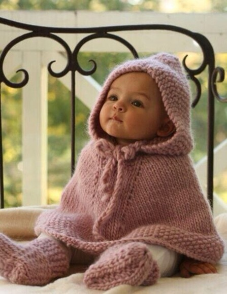 knitwear sweater poncho baby clothes baby