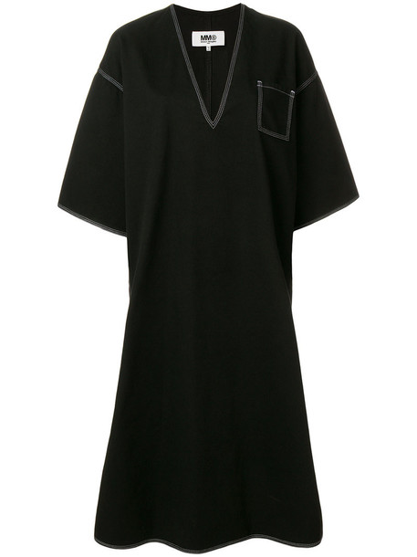 Mm6 Maison Margiela dress oversized women cotton black