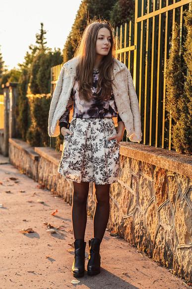 jacket skirt blogger iemmafashion sweater