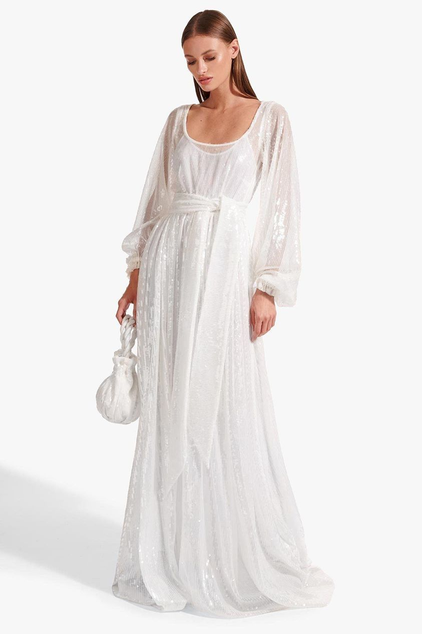 PEARL DRESS | CLEAR SEQUIN