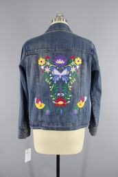 coat,fashion,denim,vintage,vintage fashion,embroidered,jacket,floral,embroidered jacket,floral embroidery,embroidered denim,floral embroidered denim jacket,embellished denim,denim jacket,jean jackets,blue jean jacket,blue jean jackets,embroidered jean jacket,thisbluebird