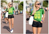 meri wild,shirt,shorts,bag,sunglasses,shoes
