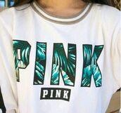 t-shirt,pink by victorias secret,cute,top,sweater,shirt,jacket,pink vs,blue t-shirt,victoria's secret,white t-shirt