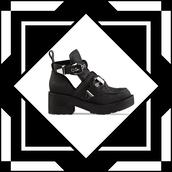 shoes,platform shoes,black,jeffrey campbell,cut out ankle boots,boots