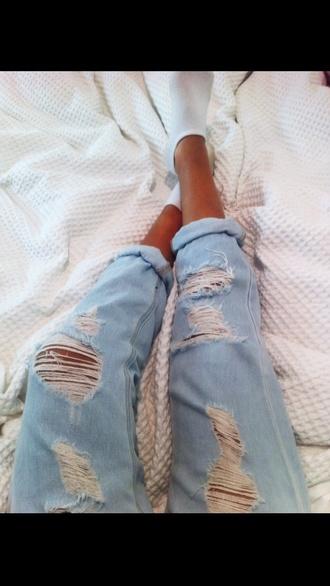 jeans boyfriend jeans ripped jeans blue jeans gloves