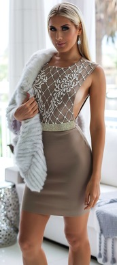 dress,holt miami,fashion,nude dress,elegant dress,party dress,birthday dress,fashion vibe,fashion coolture,clothes,miami,sexy dress