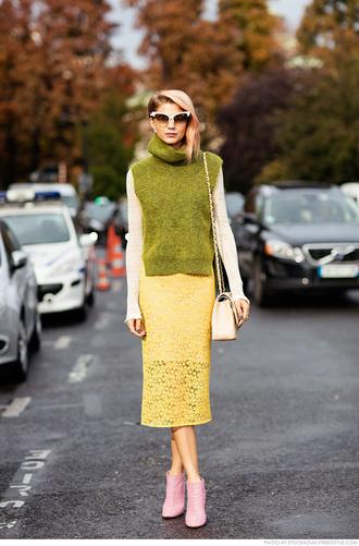 carolines mode blogger skirt top shoes bag
