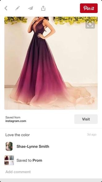 dress purple dress ombre dress burgundy white a line dress v neck dress backless