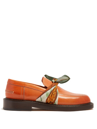 loafers leather tan shoes