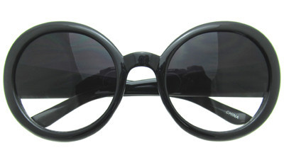 Half tinted sunglasses in black