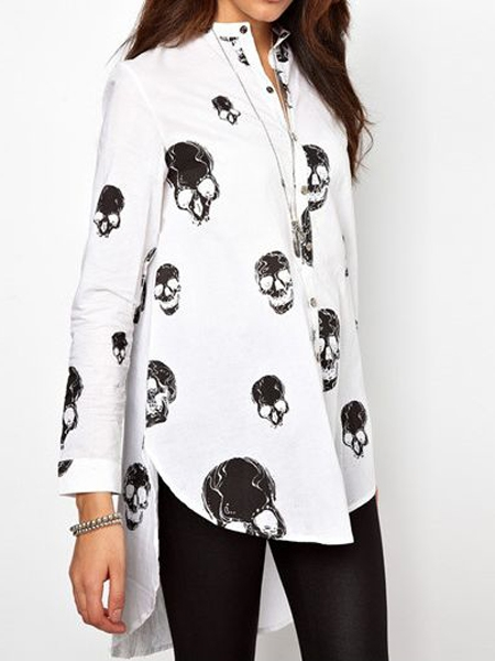 Luxurious shirt with skull print