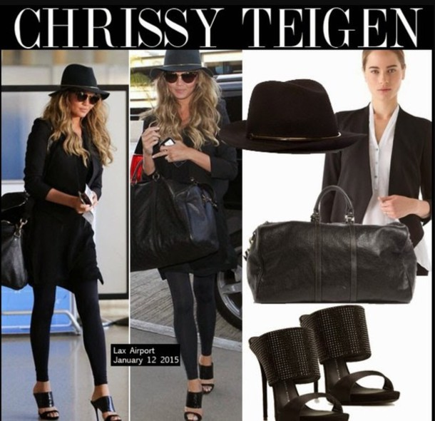 hat chrissy teigen model celebrity stylish love