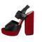 Beautiful sandals - red/black high heel platform sandals
