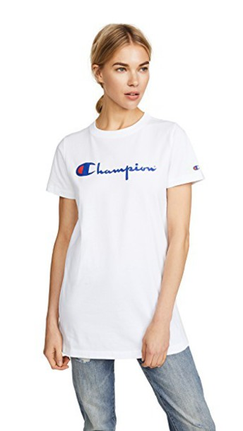 Champion Premium Reverse Weave jersey tee light white top