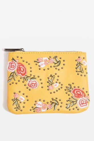 purse pouch mustard bag