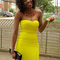 Yellow mini dress - bqueen strapless bandage dress yellow | ustrendy