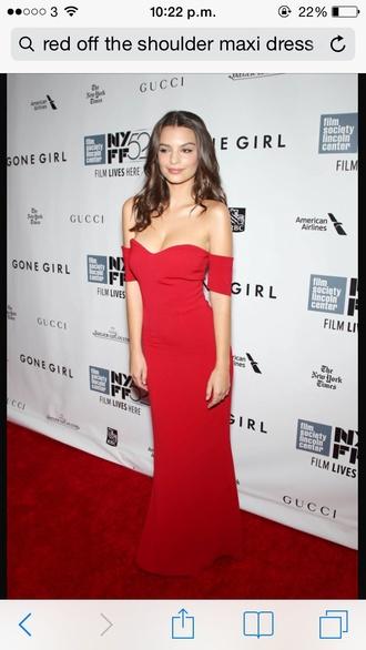 dress red dress emily ratajkowski prom dress