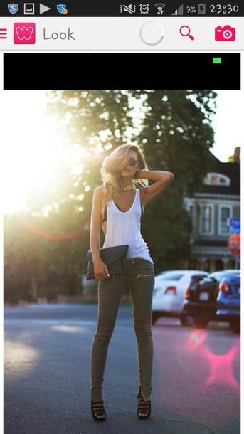 jeans blouse coat