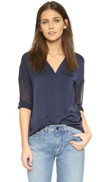 blouse sheer top