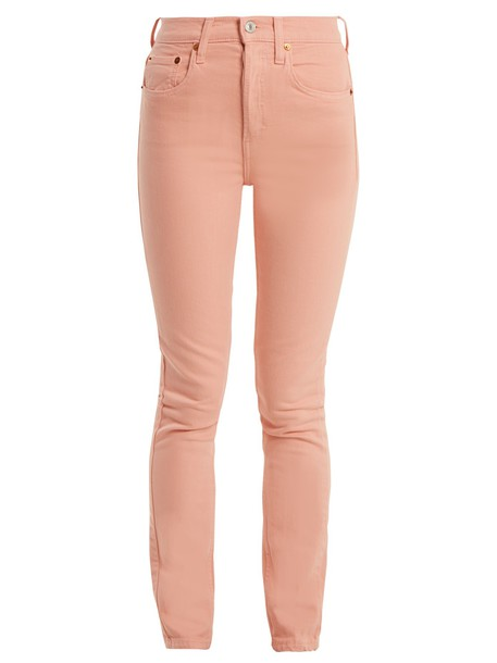 jeans skinny jeans high pink