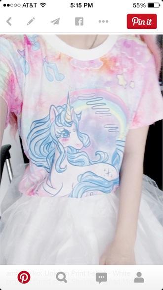 shirt unicorn grunge pastel goth goth hipster pastel creepers pastel goth
