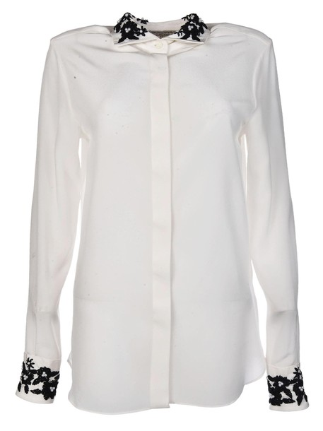 shirt embroidered top