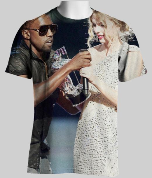 t-shirt kanye west taylor swift shirt