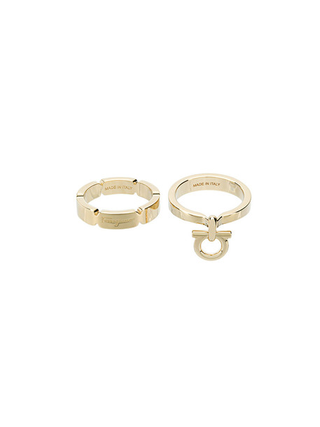 Salvatore Ferragamo women ring grey metallic jewels