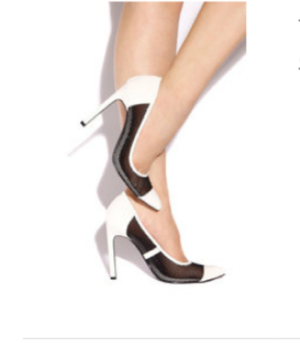 sheer see through classic cut-out heels