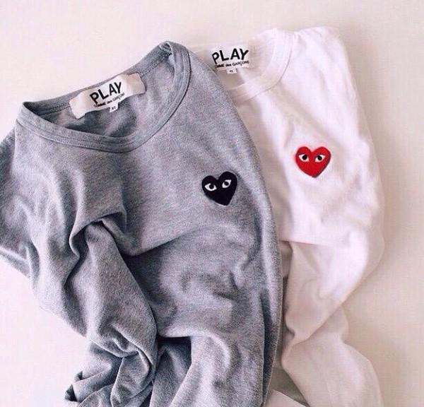 t-shirt play sweater heart