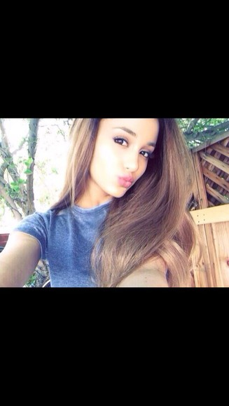 blue shirt acid wash ariana grande