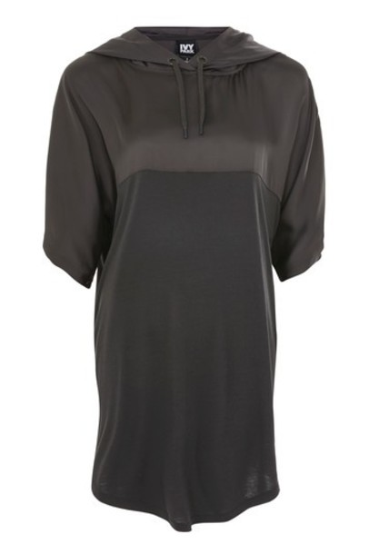 Topshop tunic black satin top