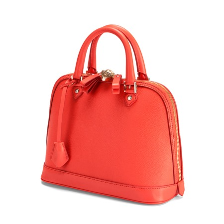Buy The Aspinal Mini Hepburn In Poppy Pebble