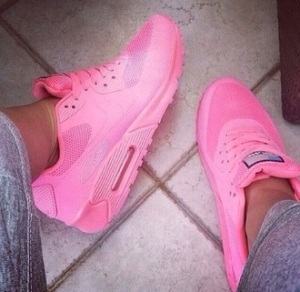 shoes airmax hightops high top air max pink nike air max neon fluro nike air max 90 pink shoes nike air