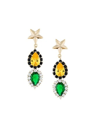 metallic women jewels earrings