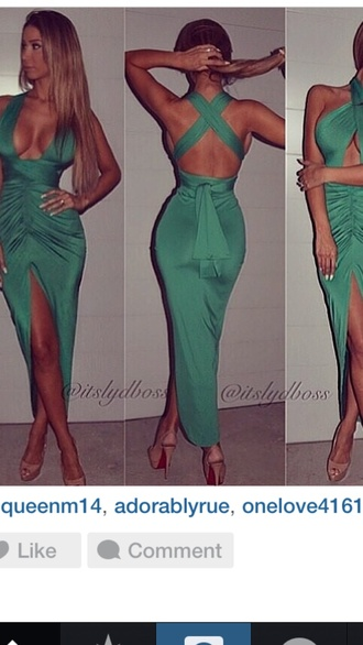 green dress sexy dress