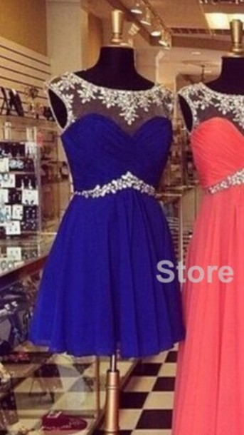 dress jewels blue dress