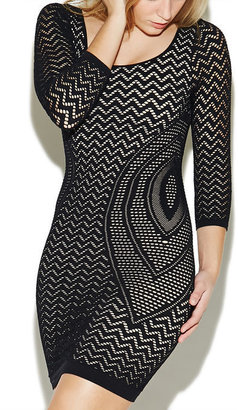 Arden B Open Knit Mini Dress - ShopStyle