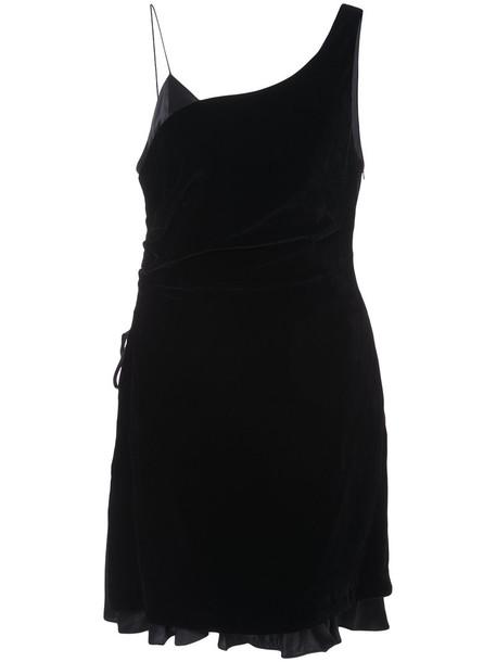 Cinq a Sept dress mini dress mini style women black silk