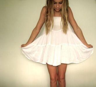 dress white tumblr sundress