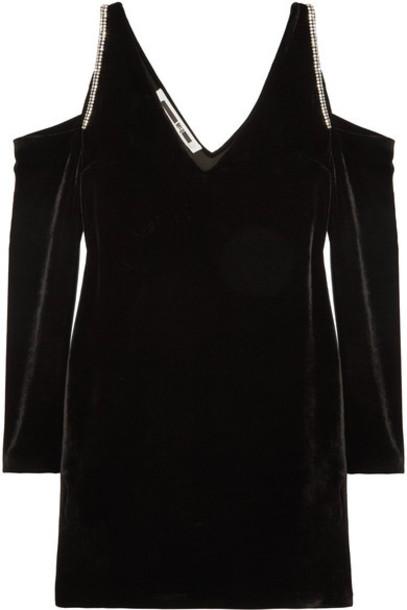 McQ Alexander McQueen dress mini dress mini embellished cold black velvet