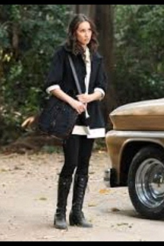 coat spencer hastings pretty little liars black and white shoes