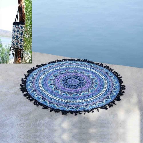 Tassel Fringe Star Mandala Roundie Beach Throw