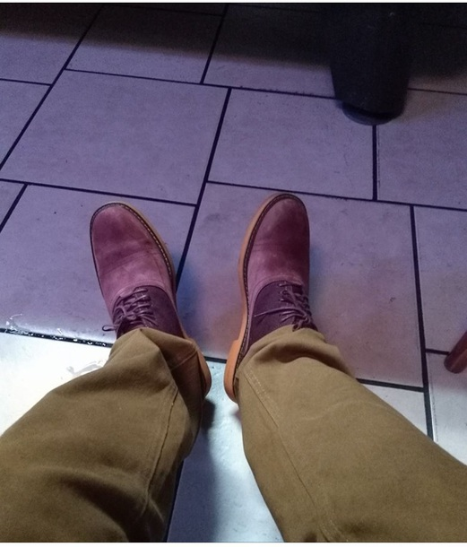 shoes two tone purple suede oxfords