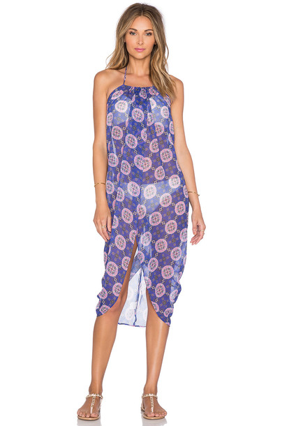 6 Shore Road dress maxi dress maxi beach purple